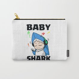 Baby Shark listening music Carry-All Pouch