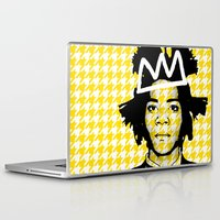 basquiat Laptop & iPad Skins featuring BASQUIAT YELLOW by SebinLondon