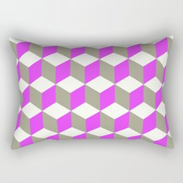 Diamond Repeating Pattern In Ultra Violet Purple and Grey Rectangular Pillow
