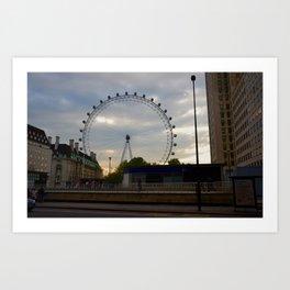 London Eye Sunset Art Print