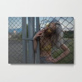 Echoes of the Ongoing Riot Metal Print