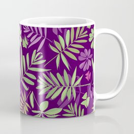 leaves pattern, background from leaves of potted flowering plants Coffee Mug