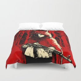 Here Comes the Red One Duvet Cover