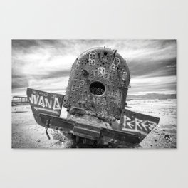 Train Graveyard #3 (Bolivia) Canvas Print