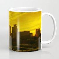 minneapolis Mugs featuring golden minneapolis by sara montour