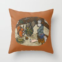 sewing Throw Pillows featuring Sewing Room by Kelsey Oseid