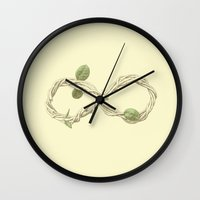 infinity Wall Clocks featuring Infinity by Sarinya  Withaya