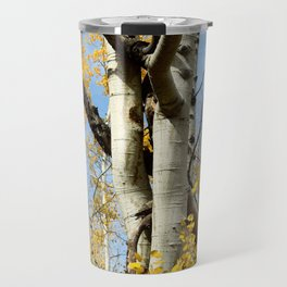Aspens Tall and Gold Travel Mug