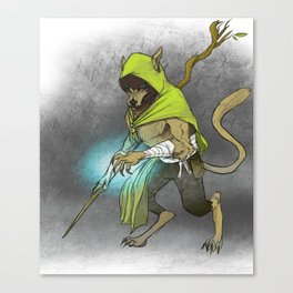 Wolf Mage Canvas Print