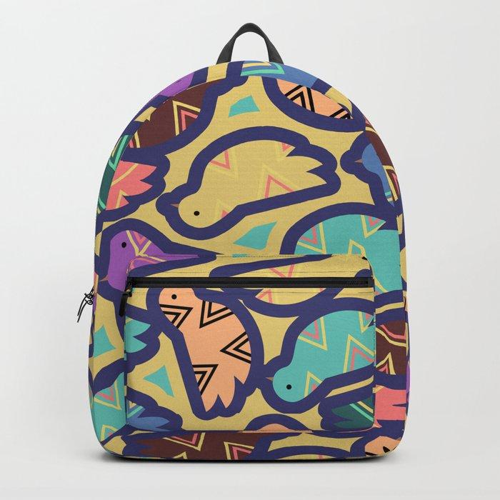 Ethnic bird pattern Backpack