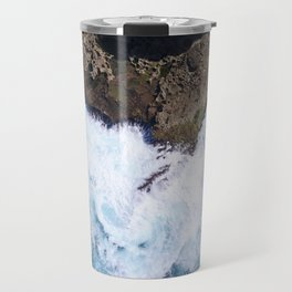 Cliff Side Waves Travel Mug
