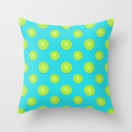pattern of lemon limes Throw Pillow