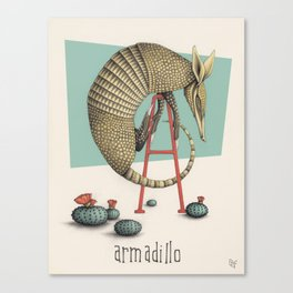 A is for Armadillo Canvas Print