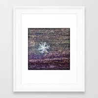 snowflake Framed Art Prints featuring snowflake by Bonnie Jakobsen-Martin