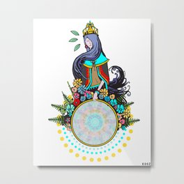 LADY OF THE HOOP Metal Print