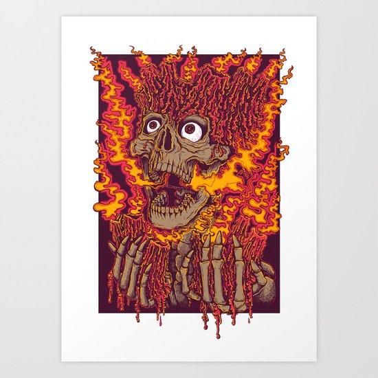 Blazing Skulls Art Print