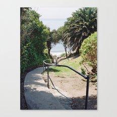 More Mesa Beach Steps Canvas Print