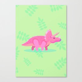 Triceratops, She Always Had an Attitude Canvas Print