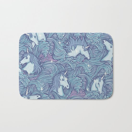 and so it ends - purple version Bath Mat