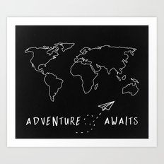 Adventure Map Art Print