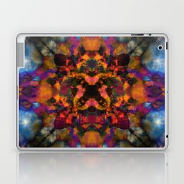 Psychedelic kaleidoscope cloud pattern Laptop & iPad Skin