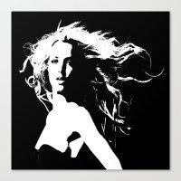britney Canvas Prints featuring Pretty Britney by Dora Birgis