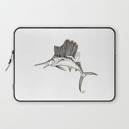 Surfing the fish Laptop Sleeve