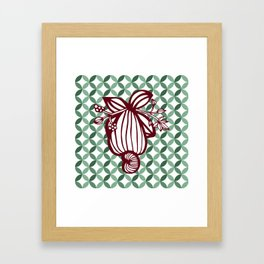 Retro Cashew Framed Art Print