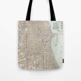 Vintage Map of Chicago (1893) Tote Bag
