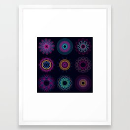 Funky Spirographs Framed Art Print