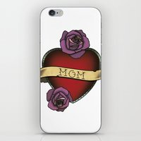 mom iPhone & iPod Skins featuring Mom by CCL Works