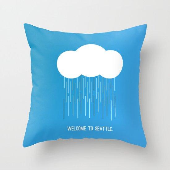 Simplistic Seattle  Throw Pillow