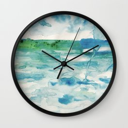Miami Beach Watercolor #2 Wall Clock