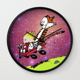 Calvin and hobbes adventure Wall Clock