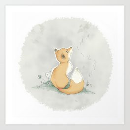 Dandelion Fox Art Print
