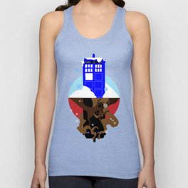 Upside Down Time Travel Unisex Tank Top