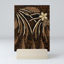 Vintage Samoan Tribal Tapa Art Board Mini Art Print