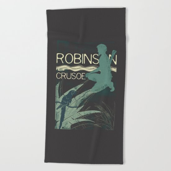 Books Collection: Robinson Crusoe Beach Towel