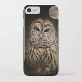 Barred Owl and the Moon iPhone Case