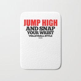 Volleyball saying Training Gift Bath Mat