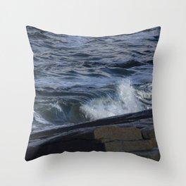 Curling blue Throw Pillow