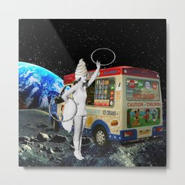 Miss Whippy Hooping in Space Metal Print