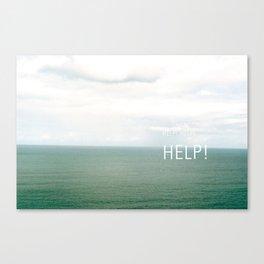Help. Canvas Print