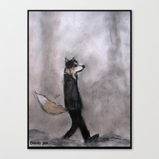 The Dandy Fox Goes For a Stroll Canvas Print