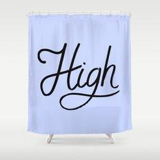High Shower Curtain