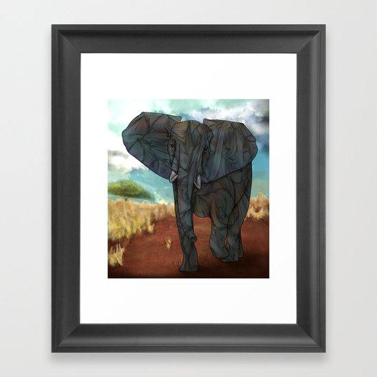 African Elephant Framed Art Print