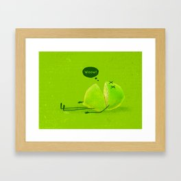 Lime Framed Art Print