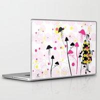 mushroom Laptop & iPad Skins featuring Mushroom by Emilie Ramon