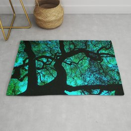 Under The Tree Blue and Green Rug