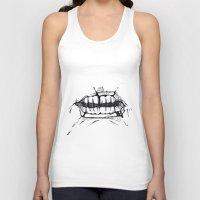 teeth Tank Tops featuring Teeth by Tanya_Vazh